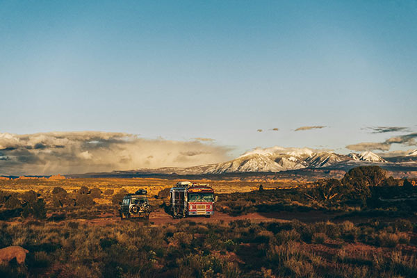 boondocking rv and a vanagon