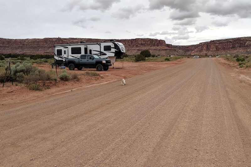 boondocking in Moab