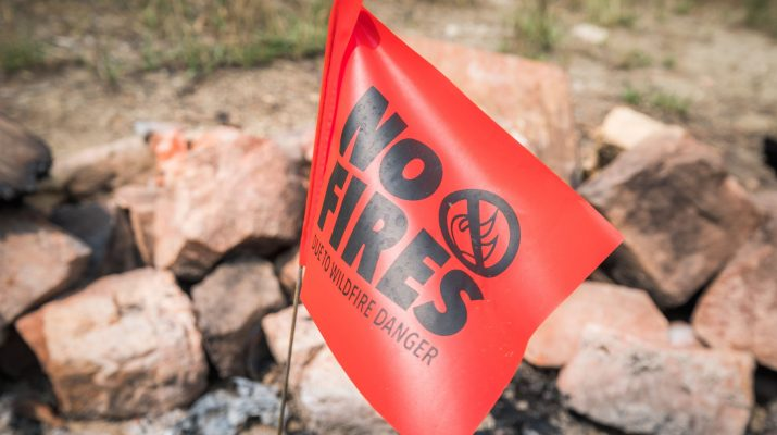 Flag that says No Fires